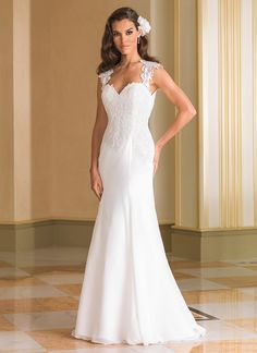 Fit and Flare Venice Lace Appliques Plunging Illusion Back Wedding Dress See Through New Design Bridal Dress feminine dresses