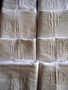 European Antiques : Decorative French towels