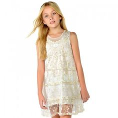 Beautiful embroidered dress from out favorite spanish brand Mayoral Available In-Store and Online Sizes Girls Lace Dress, Tulle Dress, Flower Girl Dresses, Vestidos Zara, Dope Outfits, Boutique, Tween, Girl Fashion, Wedding Dresses