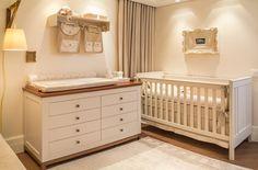 Decoração Quarto de Bebê Menino -  Berço Branco (Arquitetos: Bruna Ximenes e André Leitei | Foto: Quartos Etc)