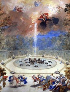 18 Vue du Bosquet de l'Encelade dans les jardins de Versailles de Cotelle Jean, le Jeune.jpg