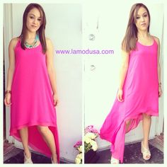 Everything looks prettier in pink! This dress is everything, wear it to your next beach wedding or baby shower!! www.lamodusa.com