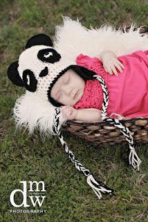 Tampa Bay Crochet: Panda Bear Earflap Hat