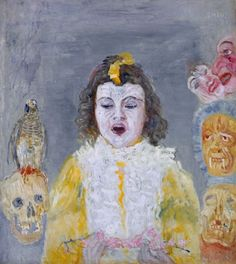 Girl with Masks, 1921