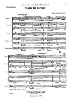 Barber adagio score download