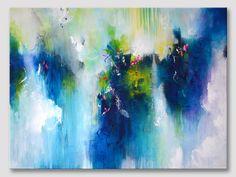 Original XXL abstrakte Kunst moderne Malerei farbenfrohe