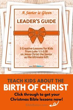 Present Jesus the Savior to Kids as the Ultimate Gift! ...And then challenge them to accept that gift this holiday season. A Savior is Given: Leader's Guide contains five creative, detailed lesson plans to make teaching your kids about the birth of Christ easy and fun--and meaningful. Product Details Age range: 6-12 ye