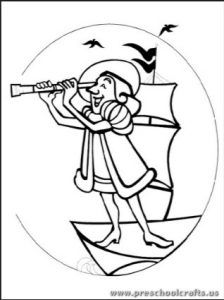 31 best Columbus Day Coloring Pages images on Pinterest | Coloring ...