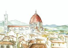Hey, I found this really awesome Etsy listing at https://www.etsy.com/listing/123752550/florence-italy-original-watercolor-print