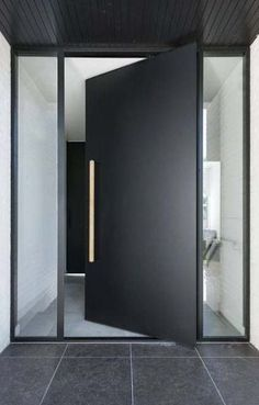 New Ideas Large Modern Front Door Entrance Modern Entrance Door, Modern Exterior Doors, Design Exterior, Modern Front Door, Front Door Entrance, Exterior Front Doors, Front Door Design, House Entrance, Entry Doors