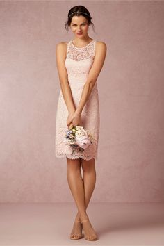 Sloane Bridesmaids Dress in blush from @BHLDN