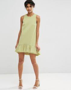 Изображение 4 из Платье мини с оборками ASOS