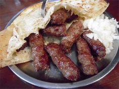 Cevapcici are little hand formed sausages originating from the Balkans