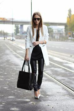 street style. chic. black & white