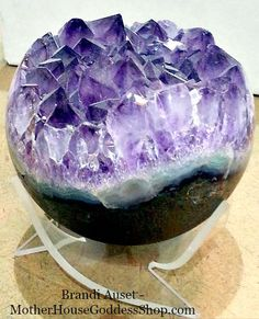 Large Amethyst Geode Sphere by MHGoddessShop on Etsy https://www.etsy.com/listing/244295580/large-amethyst-geode-sphere