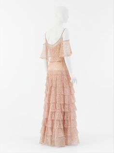 "Designer: Gabrielle ""Coco"" Chanel. Silk. Date: ca. 1930. House of Chanel."