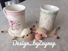 Crochet Potholders, Crochet Toys, Crochet Cup Cozy, Mug Cozy, Striped Wallpaper, Amigurumi Toys, Fiber Art, Crochet Projects, Origami