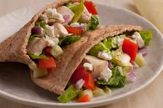 Greek Chicken Pita 21 Day Fix Portions 1 1/2 yellow 1 red 1 green 1/2 blue/orange For more information on the 21 Day Fix and to sign up for free coaching ow.ly/AXkeG.