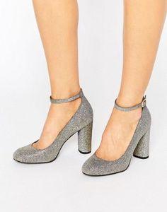 New Look - Scarpe glitterate con tacco largo arrotondato