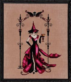 Zenia by Nora Corbett, From the Bewitching Pixies Series. Model: stitched on Ct. Milk Chocolate with DMC floss and Mill Hill beads. Stitch Count: x Mill Hill Beads required: 02056 Recommended Fabric: Milk Chocolate Aida DMC Floss required: 310 75 Cross Stitch Love, Cross Stitch Needles, Modern Cross Stitch, Cross Stitch Kits, Cross Stitch Charts, Counted Cross Stitch Patterns, Cross Stitch Designs, Cross Stitch Embroidery, Modern Embroidery