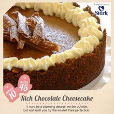 Rich chocolate cheesecake #recipe