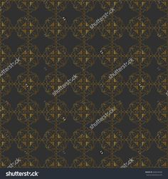 Seamless pattern with emblem symbols