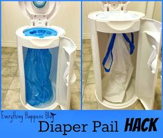 Everything Happens in the Kitchen: Diaper Pail Hack (Don't Buy Those Expensive Bags! Diaper Genie, Diaper Pail, Our Baby, Baby Boy, Organizar Closet, Diy Bebe, Baby Hacks, Mom Hacks, Little Doll