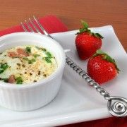 For the Love of Cooking » Baked Eggs with Ham, Cheddar, and Chives