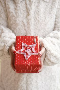 an ornament as a package topper | Ana Rosa