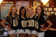 Members of the 2013 St. Louis Rams Cheerleaders at the Rams Draft Day Party at Dave and Busters!