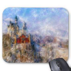 Neuschwanstein Castle Mixed Media Mouse Pad