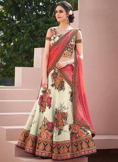 Looking to buy Indian lehenga choli online? Shop latest designer lengha choli online for women. Half Saree Lehenga, Lehenga Gown, Indian Lehenga, Bridal Lehenga, Floral Lehenga, Half Saree Designs, Choli Designs, Lehenga Designs, Lehenga Choli Online