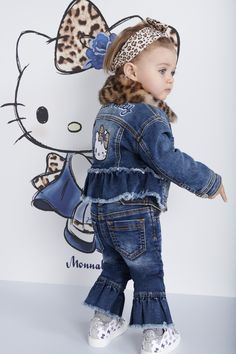 blue Hello Kitty Girls Overall 2016 Collection