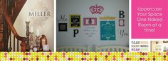 fun decorating ideas with Uppercase Living vinyl!