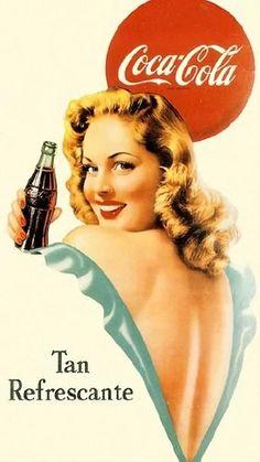 pin up coca cola Coca Cola Poster, Coca Cola Ad, Always Coca Cola, World Of Coca Cola, Coca Cola Vintage, Vintage Labels, Vintage Ads, Pinup, Pin Up Retro