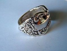 silver spoon ring - a fancier version of the one I own