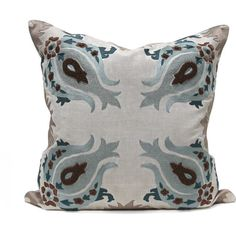 Kashmir Pillow design by Bliss Studio ($615) ❤ liked on Polyvore featuring home, home decor, throw pillows, pillows, grey accent pillows, bliss studio, grey home decor, gray home decor and gray throw pillows