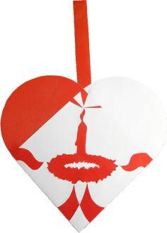 Første Søndag i Advent | Johans Julehjerter: skabeloner til smukke og unikke julehjerter til juletræet. Traditional Danish Christmas hearts for unique paper art.