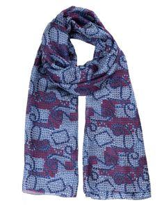 Foulard soie MAIA snake blue femme 836e9c5aa69