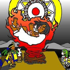 Nanahuatzin by nosuku-k on DeviantArt Aztec Emperor, Aztec Art, I Really Love You, Bowser, Iron Man, Anime Art, Japanese, Deviantart, Superhero