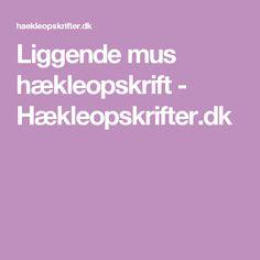 Liggende mus hækleopskrift - Hækleopskrifter.dk