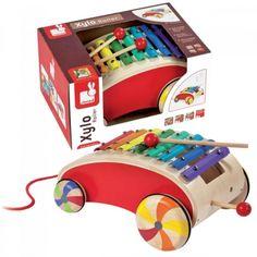 Xylo Roller Janod (J05361) Xylo Roller Janod - Jucarie de tras si de cantat.  Un carucior din lemn frumos colorat, un xilofon din metal si doua bete. Kids, Design, Children, Boys, Children's Comics, Design Comics, Boy Babies, Kid, Kids Part