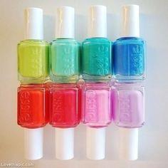 Color Essie Nail Polish girly colorful girl nail polish rainbow pastel makeup