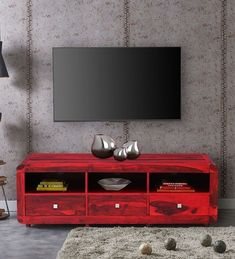 Buy Modern TV Cabinets Online: Choose from a wide variety of modern tv cabinet and tv unitdesigns as in India at best prices. Tv Console Modern, Modern Tv Cabinet, Tv Cabinet Design, Tv Cabinets, Table Storage, Storage Spaces, Modern Tv Units, Buy Tv