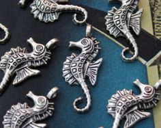 mermaid, seahorse,starfish charms for jewelry making - Google Search/etsy