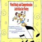 Word Study Activities and Comprehension Questions for Poetry Bookmark  Includes:          - 28 Word Study Acrivities          - 22 Comprehension Qu...