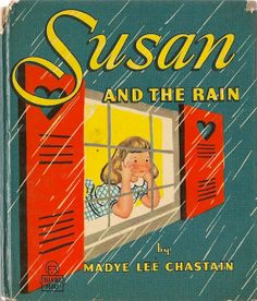 VINTAGE KIDS BOOK Susan and the Rain a Whitman Tell-a-Tale Book