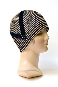 Women's Cloche Hat  1920s Straw Cloche  Gatsby by HatsWithAPast