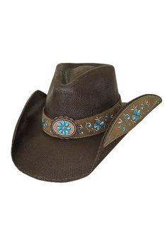 Bullhide Women s Forever Young Straw Cowgirl Hat. Brown Cowboy ... 06acf4bdb95c