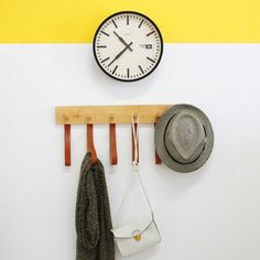 Utrecht-based cloudnola is known for their cool modern clocks and now they're branching out to include modern wall hooks with a playful twist.